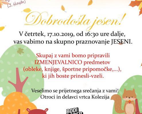 vabilo na praznovanje jeseni